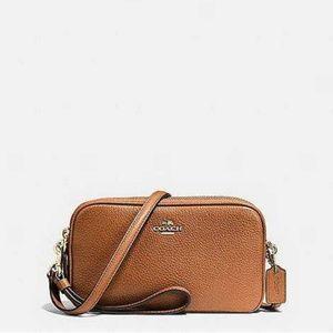 Authentic Coach Brown Clutches Handbags